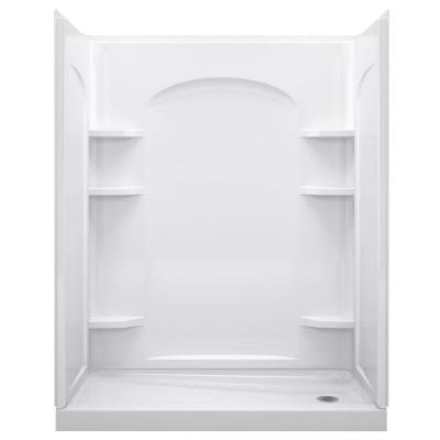 Ensemble 32 in. x 60 in. x 74-1/2 in. Shower Stall in White