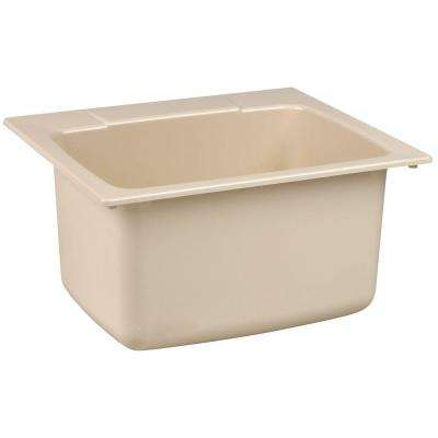 22 in. x 25 in. Fiberglass Self-Rimming Utility Sink in Bone