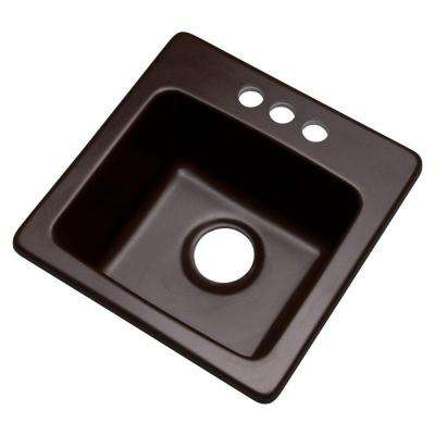 Westminster Drop-In Composite Granite 16 in. 3-Hole Single Bowl Kitchen Sink in Espresso
