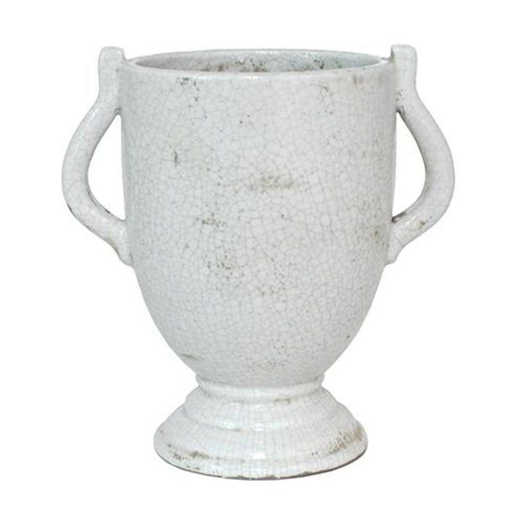 Home Decorators Collection Sassari Antique White Small Vase