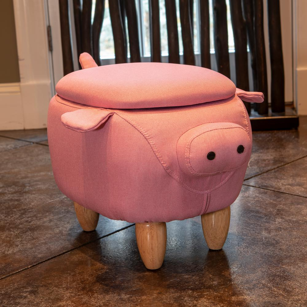 Decor Therapy 15 In Pink Pig Storage Stool Fr8648 The