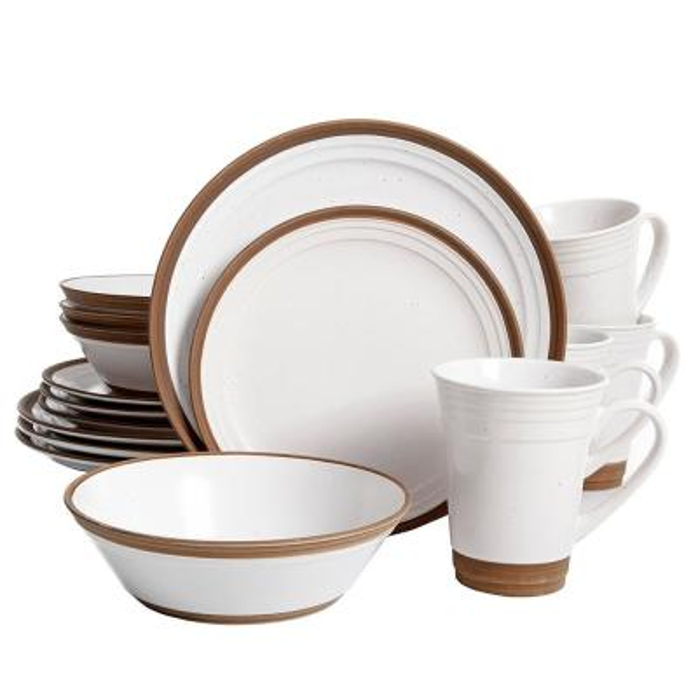 Brynn 16-Piece White Dinnerware Set