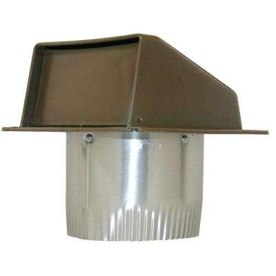 4 in. Plastic Eave Vent in Brown with 3 in. Aluminum Tail Pipe