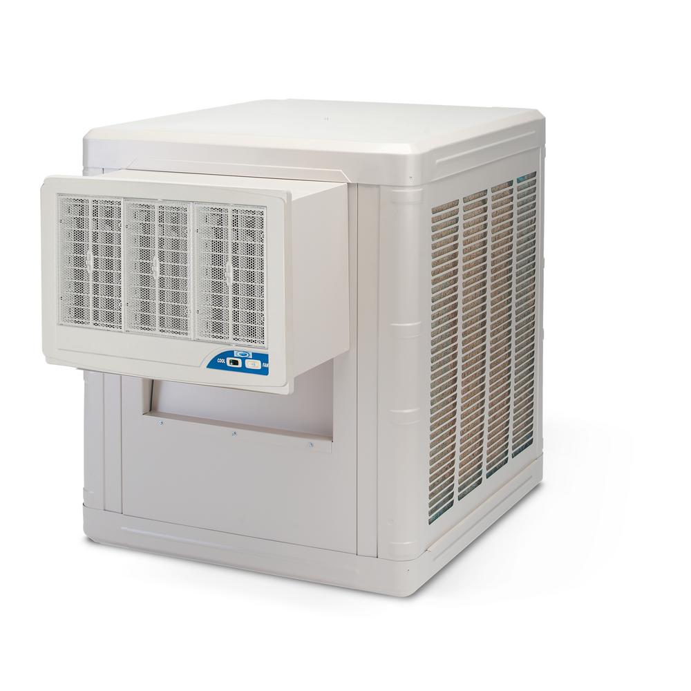 Frigiking 5000 Cfm 2 Speed Front Discharge Window Evaporative Cooler For 1600 Sq Ft With Motor
