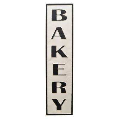 White Metal Novelty Sign- Bakery