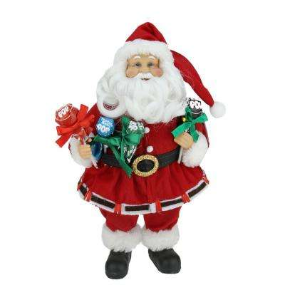 12 in. Santa Claus Holding Tootsie Pops Christmas Tabletop Decoration