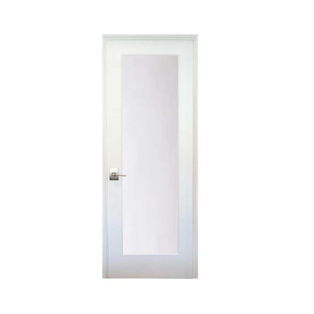 Stile Doors 36 in. x 80 in. 1-Lite Satin Etch Primed Right-Hand Solid Core MDF Single Prehung Interior Door