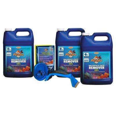 3 gal. Piranha Gel Wallpaper Removal Kit for Large Sized Rooms