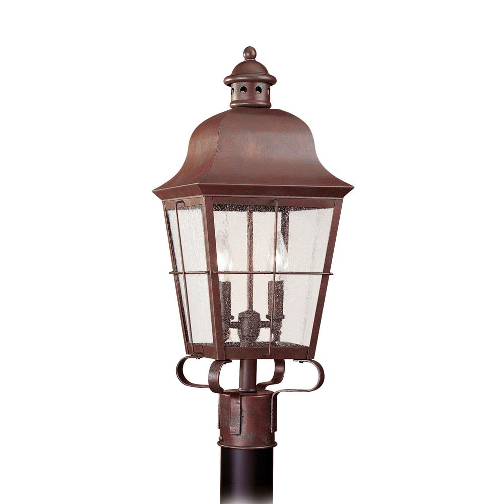 Sea Gull Lights: Sea Gull Lighting Chatham 2-Light Outdoor Silver Post