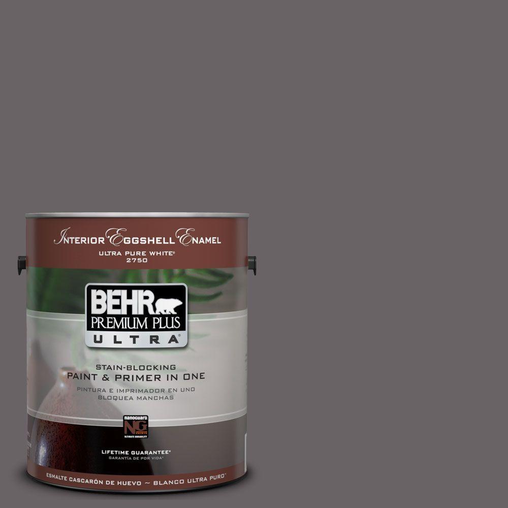 BEHR Premium Plus Ultra 1-Gal. #UL250-1 Arabian Veil Interior Eggshell Enamel Paint
