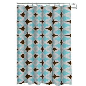 brown and aqua shower curtain. Oxford Weave Textured 70 in  W x 72 L Shower Curtain with Metal Lavish Home Embroidered Grommets