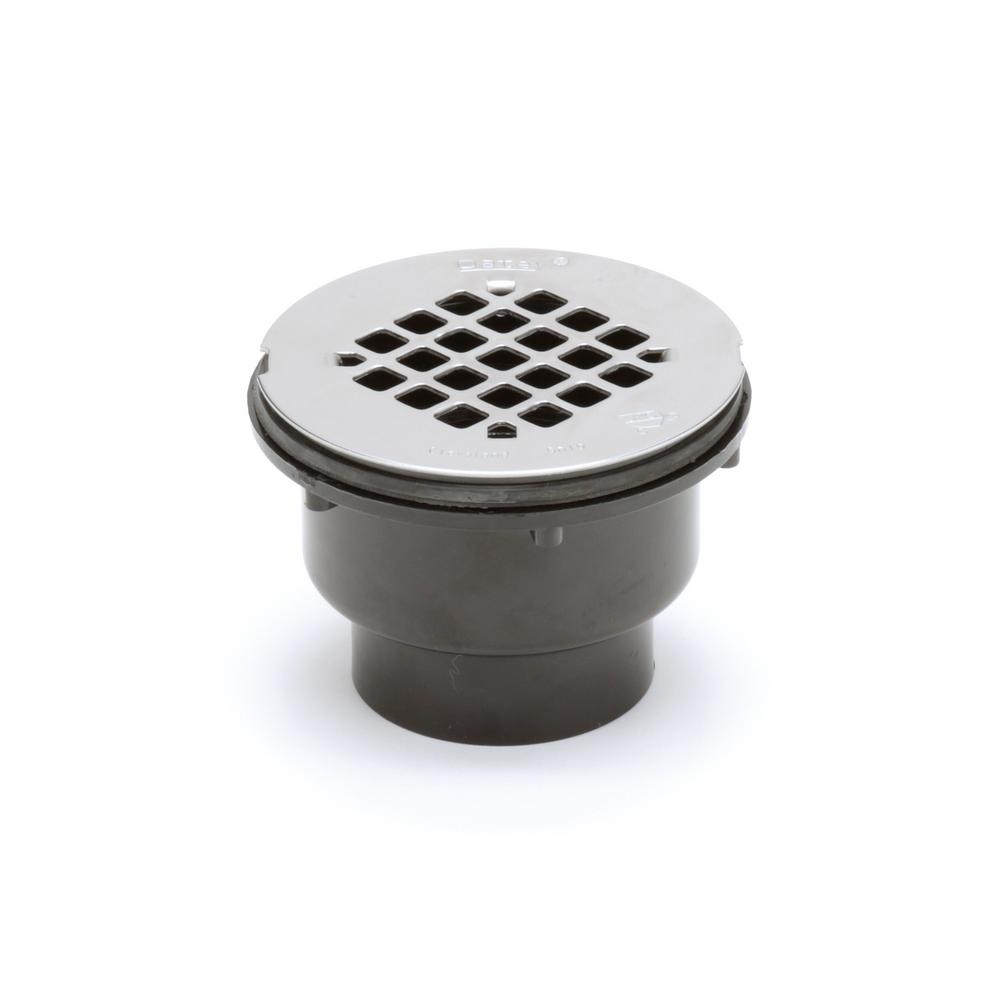 2 Part ABS Shower Drain with Stainless Steel Strainer
