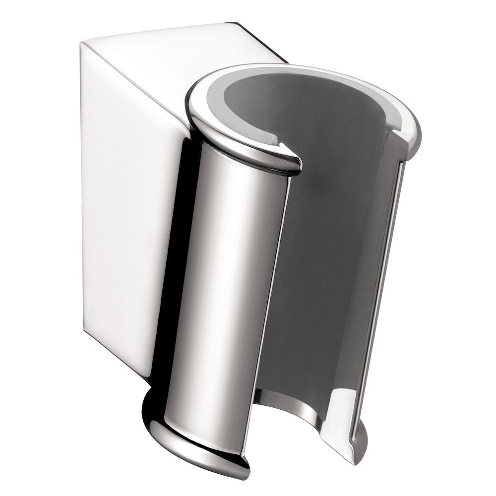 hansgrohe porter c hand shower holder in chrome 28324000 the home depot. Black Bedroom Furniture Sets. Home Design Ideas