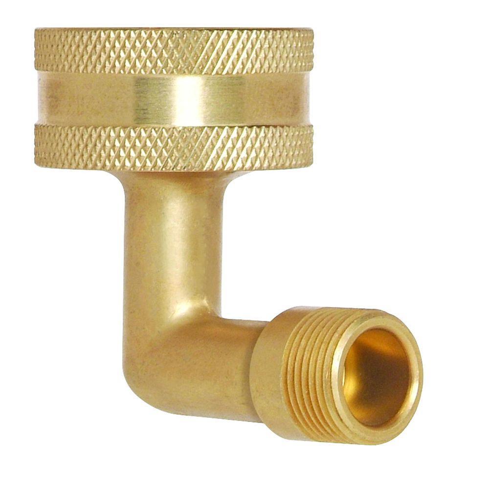 Brasscraft 3/4 inch Female Hose Thread Swivel Nut x 3/8 inch O.D. Compression Dishwasher Elbow with Hose Washer by BrassCraft