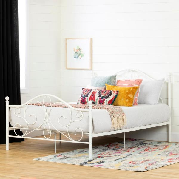 South Shore Country Poetry White Full Bed 12156