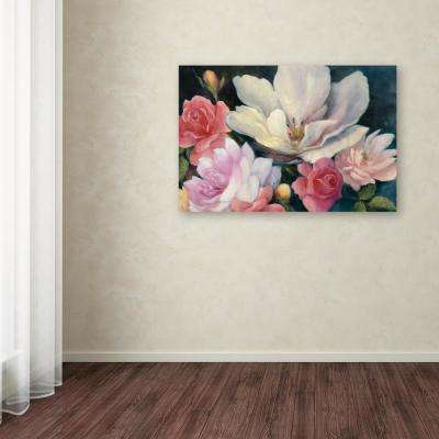 """22 in. x 32 in. """"Flemish Fantasy Rose Crop"""" by Julia Purinton Printed Canvas Wall Art"""