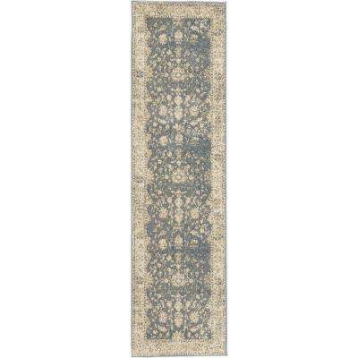 Runner Blue Area Rugs Rugs The Home Depot