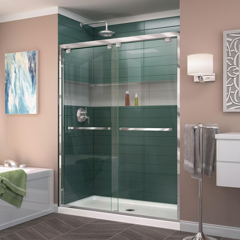 DreamLine Encore 44 in. to 48 in. x 76 in. Framed Bypass Shower Door ...