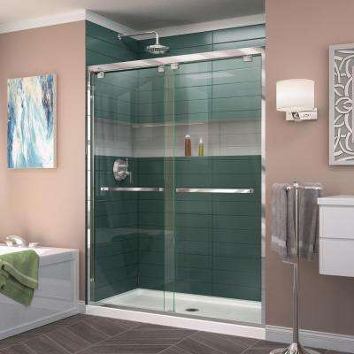 Encore 50 in. to 54 in. x 76 in. Semi-Frameless Bypass Shower Door in Chrome