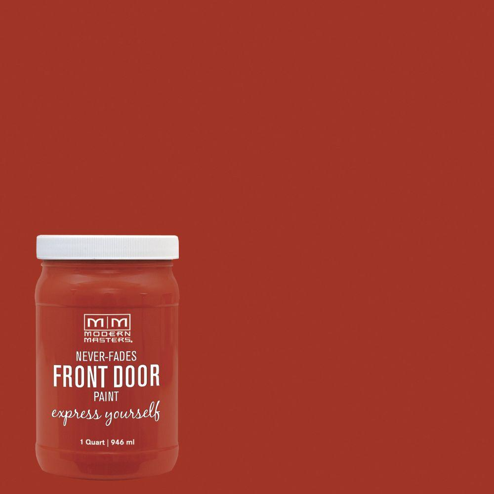 Modern Masters Express Yourself 1 qt. Satin Motivated Orange Water-Based Front Door Paint