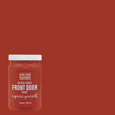 Express Yourself 1 qt. Satin Motivated Orange Water-Based Front Door Paint