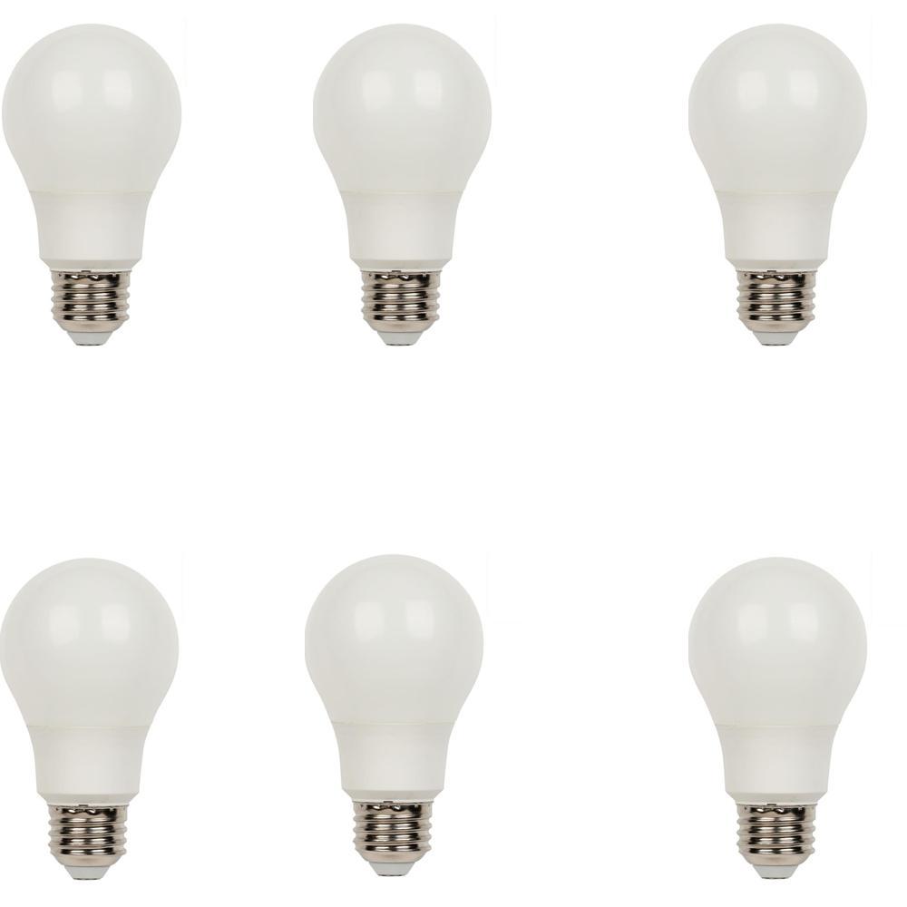 60W Equivalent Daylight Omni A19 LED Light Bulb (6-Pack)
