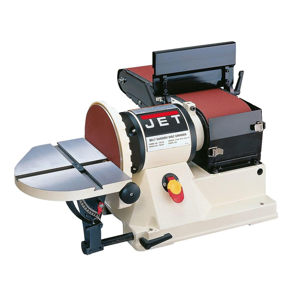 Jet 3 4 Hp 6 In X 48 In Benchtop Belt And 9 In Disc Sander 115