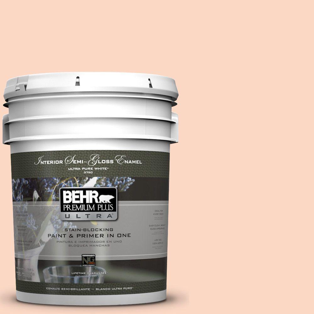 5-gal. #P190-1 Fire Mist Semi-Gloss Enamel Interior Paint