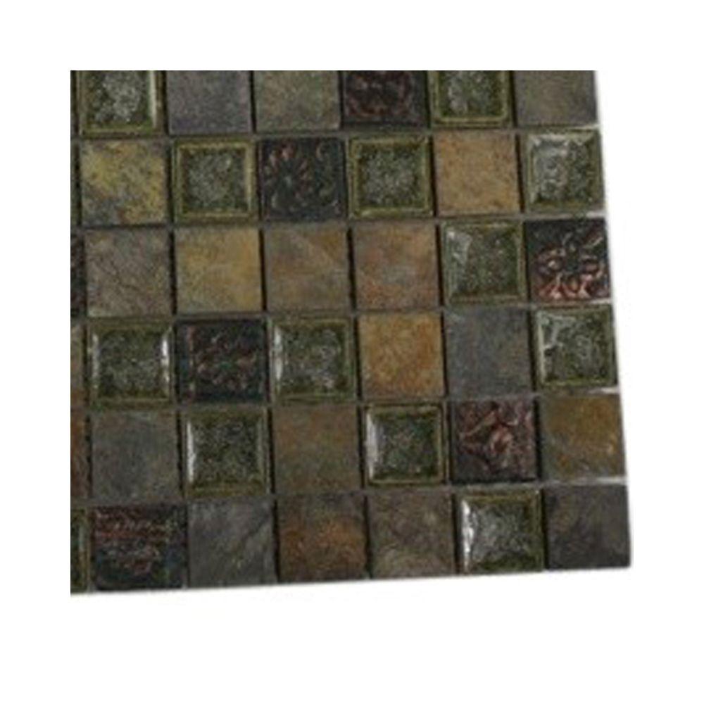 Splashback Tile Roman Selection Rural Trail Glass Mosaic Floor and ...