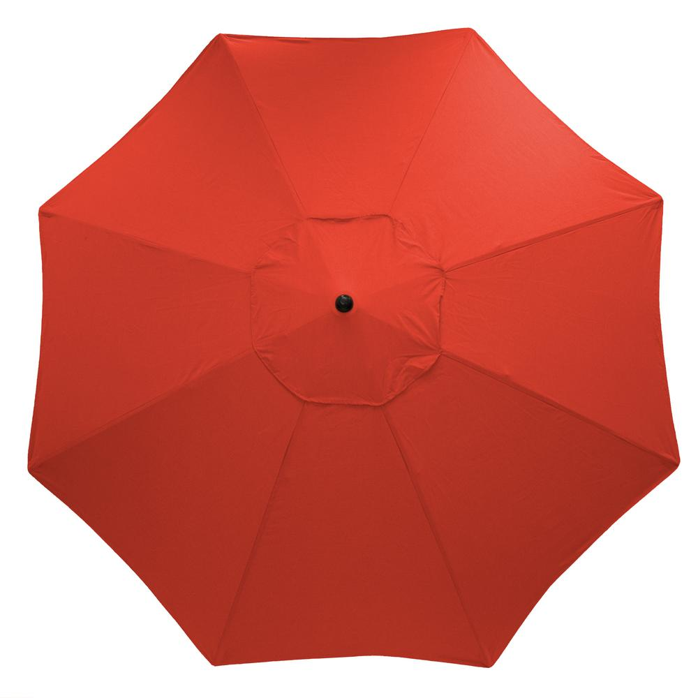 11 ft. Aluminum Market Patio Umbrella in CushionGuard Ruby