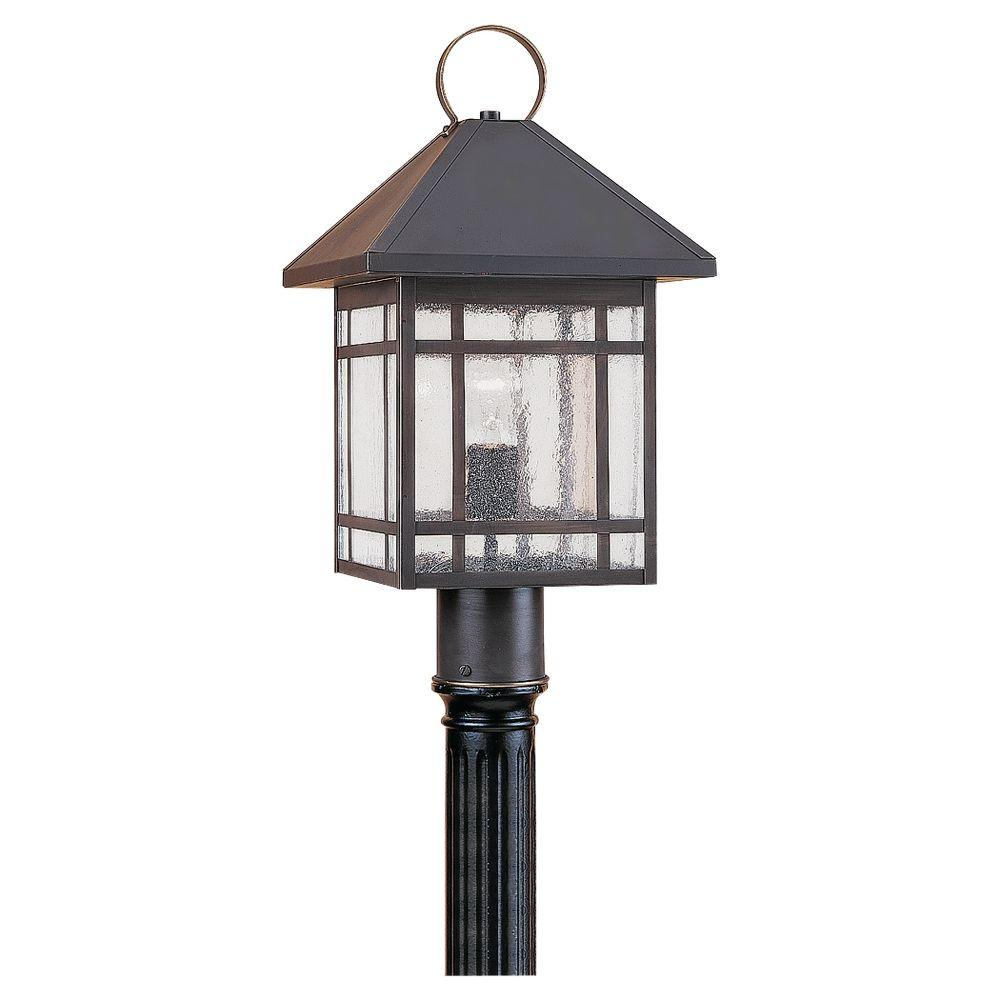 Sea Gull Lighting Largo 1-Light Outdoor Antique Bronze Post Top