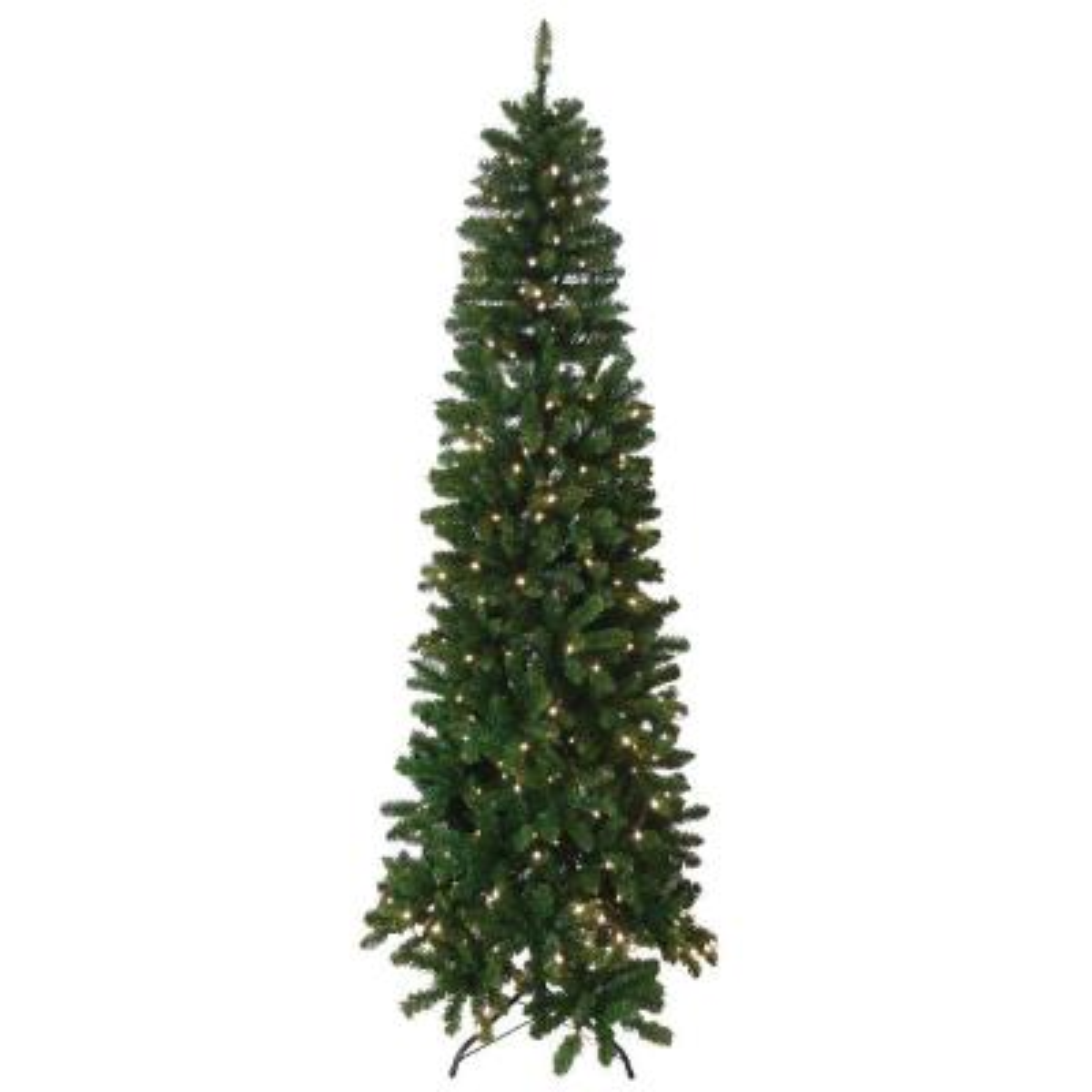 7.5 ft. Indoor Pre-Lit Slim Artificial Tree with Lights