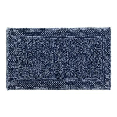 Timeless Stone Wash Navy 24 in. x 40 in. Cotton Bath Rug