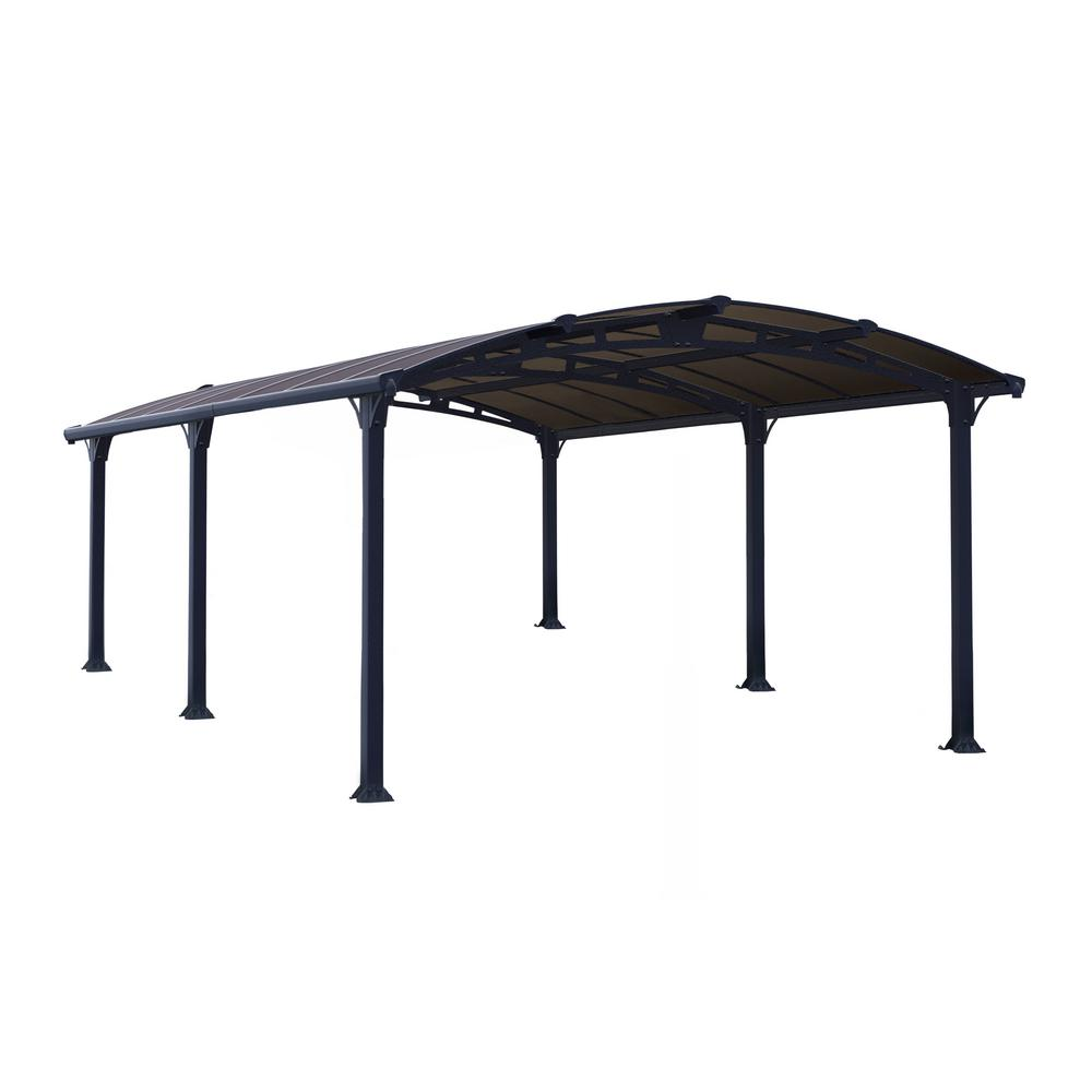 Palram Arcadia 5,000 12 ft. x 16 ft. Carport Car Canopy and Shelter