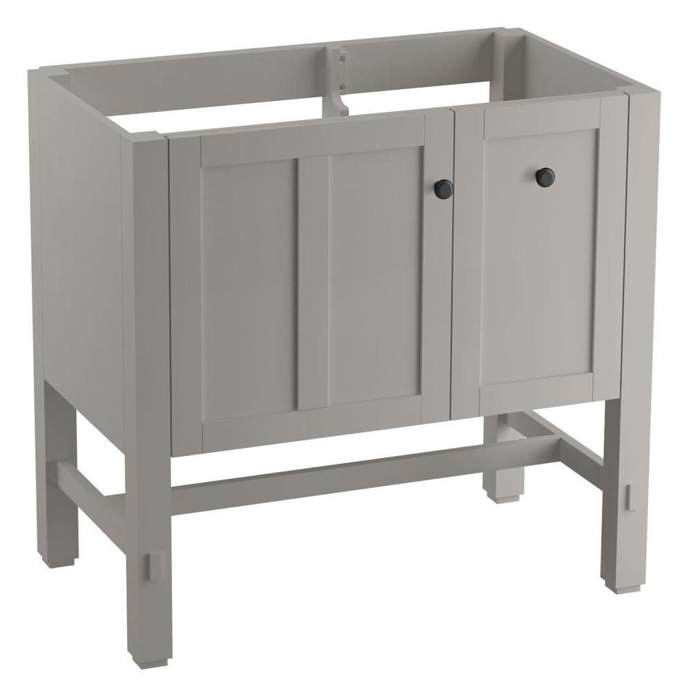 Tresham 36 in. W x 21-7/8 in. D x 34-1/2 in. H Vanity Cabinet in Mohair Grey