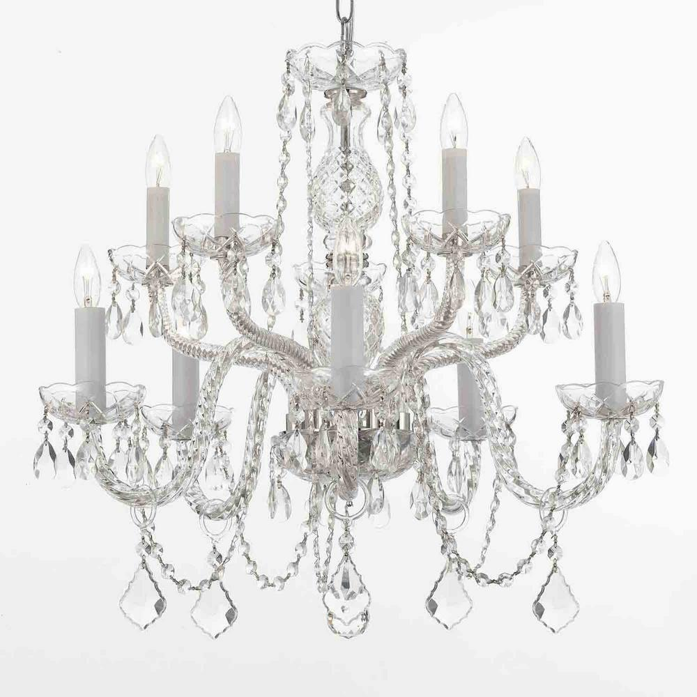Empress 10 Light Crystal Candle Style Plug In Chandelier