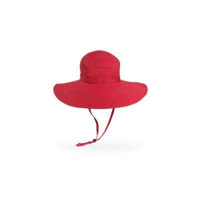 Women's One Size Fits All Red Beach Polyester Braided Hat