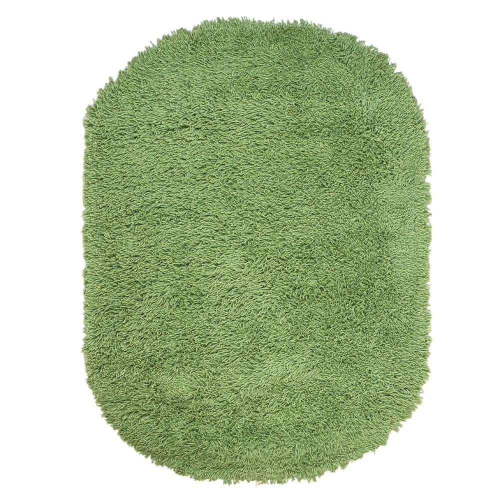Lime Green Grey Area Rug: Home Decorators Collection Ultimate Shag Lime Green 5 Ft