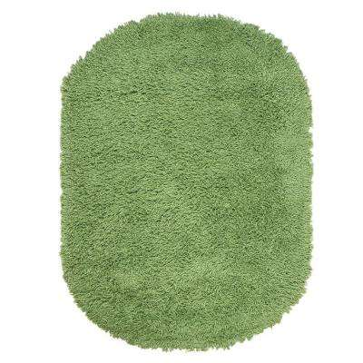 Ultimate Shag Lime Green 5 ft. x 7 ft. Oval Area Rug