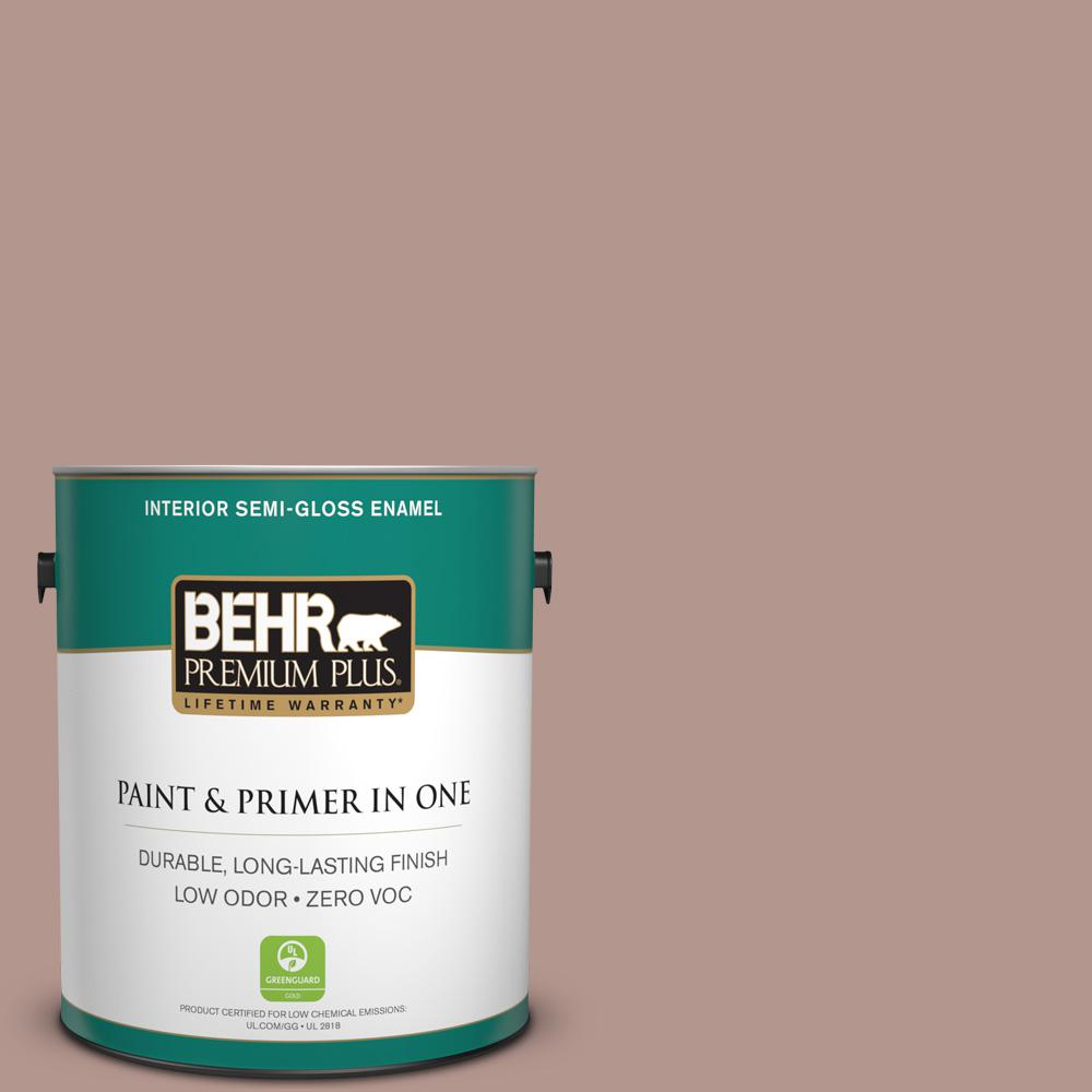 1-gal. #N160-4 Sonora Rose Semi-Gloss Enamel Interior Paint