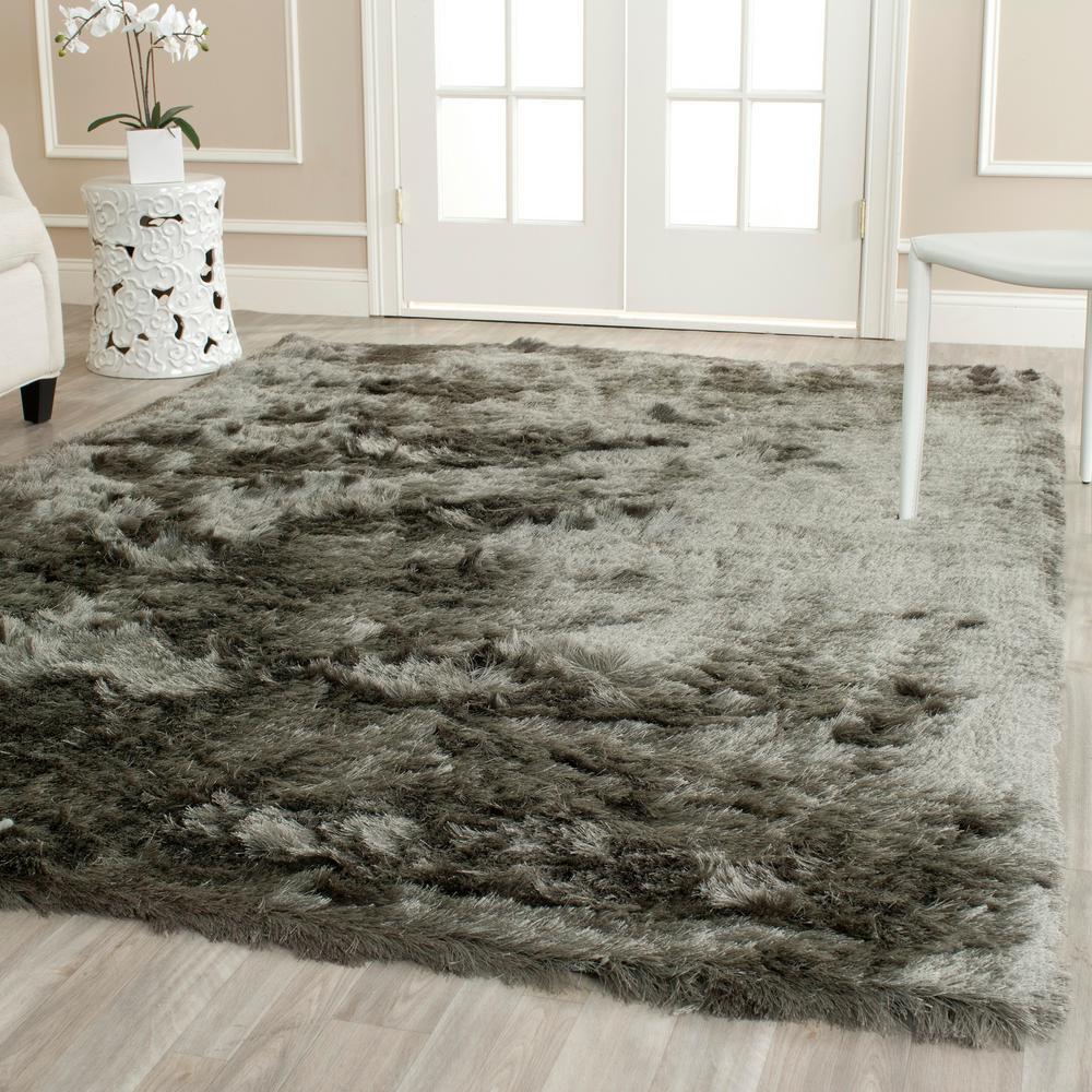 safavieh paris shag titanium 8 ft 6 in x 12 ft area rug