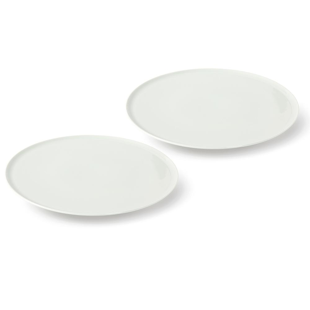 villeroy boch group vivo fresh collection 2 piece white pizza plates 1952528471 the home depot. Black Bedroom Furniture Sets. Home Design Ideas