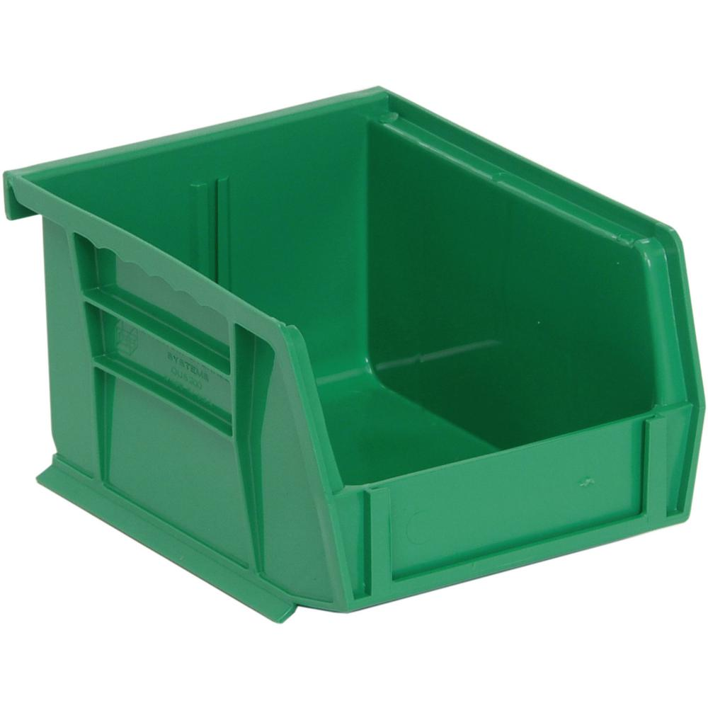 Ultra Series Stack and Hang 1 Gal. Storage Bin in Green (24-Pack)