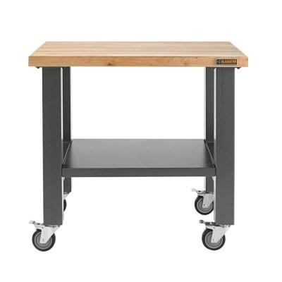 3 ft. Mobile Workbench with Hardwood Top