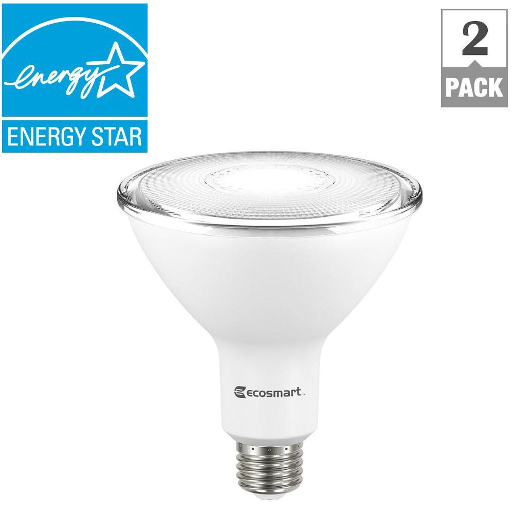 Ecosmart 120 watt equivalent par38 dimmable led flood light bulb ecosmart 120 watt equivalent par38 dimmable led flood light bulb daylight 2 pack a6pr38120wesd03 the home depot audiocablefo