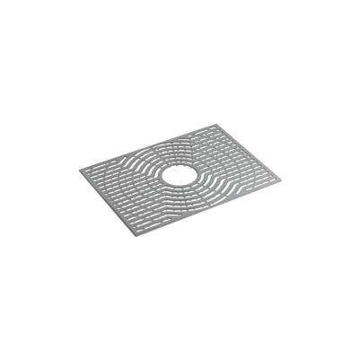 Ludington 22 in. Ash Grey Silicone Kitchen Sink Mat