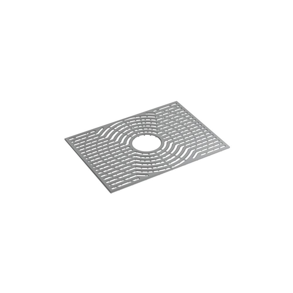 STERLING Ludington 22 in. Ash Grey Silicone Kitchen Sink Mat