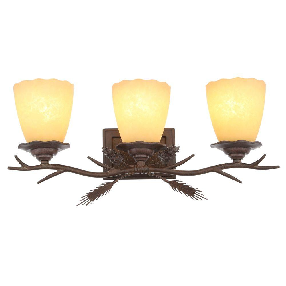Hampton bay lodge 3 light weathered spruce vanity light with sunset hampton bay lodge 3 light weathered spruce vanity light with sunset glass shades aloadofball Choice Image