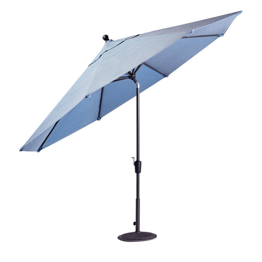 Richmond Hill 11 ft. Patio Umbrella in Spectrum Denim Blue