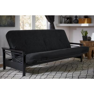 6 in. Coil Futon Full Size Mattress with CertiPUR-US Certified Foam in Black